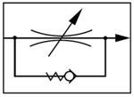 Zawór regulacji przepływu - regulatory przepływu - schemat hydrauliczny