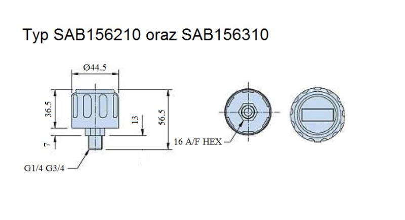 filtry wlewowe z odpowietrzeniem typ SAB156210 oraz SAB 156310
